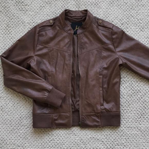 """Jack Jackets & Blazers - """"Biker-style' Jacket Faux Leather"""